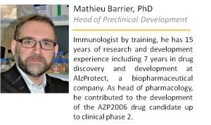 Mathieu Barrier Head of Preclinical Development MElkin Pharmaceuticals