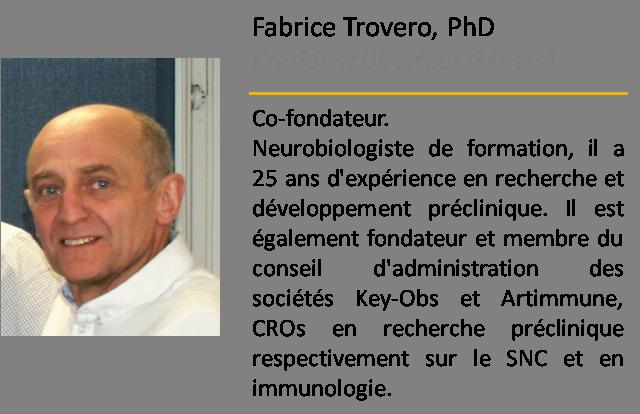 Fabrice Trovero Président Directeur Général MElkin Pharmaceuticals